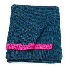IKEA LISAMARI Throw Blue/pink 130x170 cm