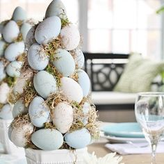 Use these Easter centerpieces as adornment for your celebratory brunch, lunch, or dinner this Easter Sunday. These Easter centerpiece ideas will help your tablescape pop. Easter Table Decorations, Easter Centerpiece, Centerpiece Ideas, Easter Decor, Wine Glass Centerpieces, Easter Peeps, Easter Bunny, Hoppy Easter, Weekend Crafts