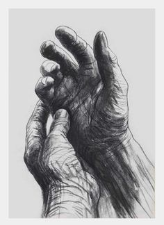 alecshao: Henry Moore - The Artist's Hands, 1974
