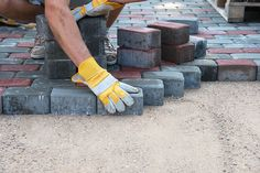 Paving bricks are the type that is manufactured to be laid flat on the ground. They are different from the type made to be used vertically for walls and