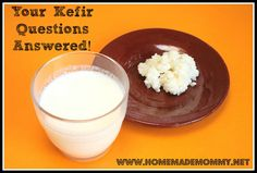 Your Kefir Questions Answered!There is plenty of good information out there explaining the basics of making kefir. However, I found when I started making my own that it wasn't quite as simple via Homemade Mommy Kefir Recipes, Raw Food Recipes, Milk Recipes, Healthy Recipes, Korn, Kefir How To Make, Making Kefir, Water Kefir, Kefir Milk