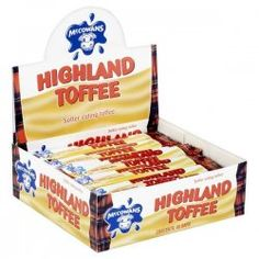 McCowans Highland Toffee -  this stuff was hard and brittle until you chewed it then it was really chewy and stretchy... Brilliant