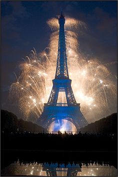 Photographs of Fireworks Displays: Fireworks at the Eiffel Tower