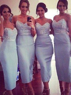 Custom Bridesmaid dress, Spaghetti straps bridesmaid dress,Beaded bridesmaid dress, Mermaid bridesmaid dress, Dress for wedding party. PD21061