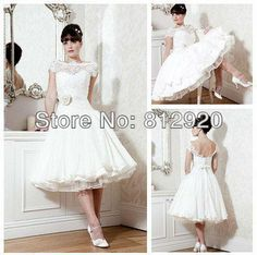 Wholesale Wedding Gown Dress - Buy 2014Terence Store TSD105 Summer High Neck Ball Gown Open Back Sexy Short Tea Length Wedding Dresses with Sleeves, $159.99 | DHgate