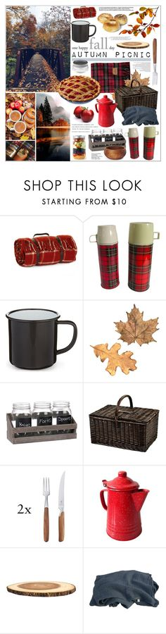 """Autumn Picnic"" by szaboesz ❤ liked on Polyvore featuring interior, interiors, interior design, home, home decor, interior decorating, Tweedmill, Falcon Enamelware, Picnic at Ascot and Pott"