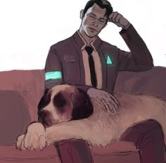 Image result for detroit become human connor fanart