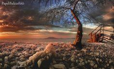 The Frozen Lake Balaton from Hungary... I Love it!!! <3