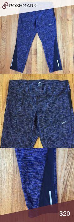 Nike Dri-fit Capri Pants Purple Large Good used condition  No spots or holes  Large Purple   Bin A Nike Pants Capris