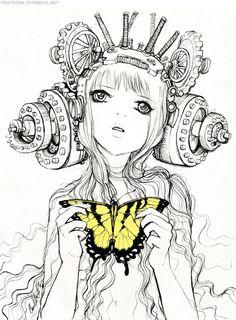 Steampunk Revue: Camilla d'Errico: Helmet Girls