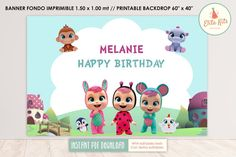 Baby Shower, Cry Baby, Gift Tags, Texts, Backdrops, Banner, Happy Birthday, Printables, Fictional Characters