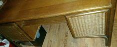 Schreibtisch Rattan Echtholz RESERVIERT in Essen - Essen-Frintrop | eBay Kleinanzeigen Rattan, Corner Desk, Entryway Tables, Furniture, Home Decor, Table Desk, Timber Wood, Essen, Wicker