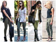 calça verde militar sutileza feminina