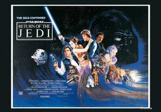 Celebrate the sixth Star Wars movie, the Return of the Jedi, with this movie poster wall décor. Featuring the iconic poster that brought the first trilogy to an end, this fantastic wall hanging makes a great gift for any Star Wars fan. Jedi Ritter, Cinema Posters, Movie Posters, Star Wars Meme, Star Wars Wallpaper, Star Wars Party, Star Wars Poster, Last Jedi, Star Wars Episodes