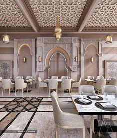 Architecture Visualization, Architecture Design, Arch Interior, Interior Design, Marocco Interior, West Facing House, Arabic Design, Hotel Interiors, Cafe Design