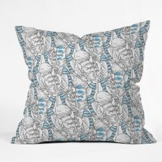 Jay Feathers Throw Pillow by Geronimo Studio for Deny Designs