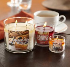 Fill your home & kitchen with the fragrances of your favorite fall treats with our NEW Cider Lane Treat Shop Candles <3   #BBWHome