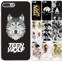 Coque teen wolf Hard Case Transparent Cover for iPhone 7 7 Plus 6 6s Plus 5 5s 5c SE 4 4s