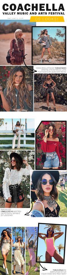 31 looks do primeiro final de semana no Coachella 2017! Mais em DANIPETRY.COM ♥