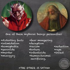 "I don't see how any ""moral"" person could follow the god of the Bible and his proclamations of right and wrong.  People still blame Satan...- Joshua Americans for Reason and Logic via Working class atheists"