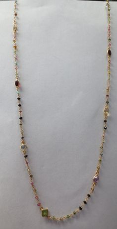 Wire wrapped tourmaline with gemstones necklace by PanachebyAmanda, $55.20
