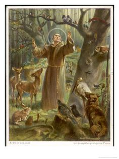St. Francis of Assisi, Patron saint of the natural world, animals and gardens by favor :)