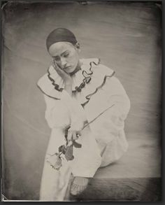 Watteau's Pierrot.  16x20 tintype.  Model: Daisy Breeze Ed Ross 2013