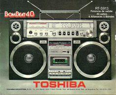 TOSHIBA BomBeat40 www.1001hifi.com 1980s Boombox, Dj Photos, Cassette Recorder, Record Players, Hifi Audio, Old Tv, Audio Equipment, Audio System, Audiophile