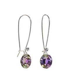 Take a look at this callura Silvertone Fish Hook Earrings With Swarovski® Crystals today!