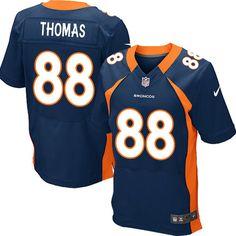 Demaryius Thomas Elite Jersey-80%OFF Nike Demaryius Thomas Elite Jersey at Broncos Shop. (Elite Nike Men's Demaryius Thomas Navy Blue Jersey) Denver Broncos Alternate #88 NFL Easy Returns.