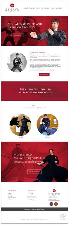 Genryu Dojo Website Design | Nicole Victory Design