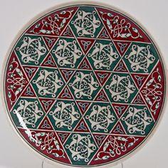 Çiniler Turkish Tiles, Turkish Art, Ceramic Plates, Ceramic Pottery, Detailed Coloring Pages, Arabesque Pattern, Ottoman Design, Islamic Patterns, Tile Art