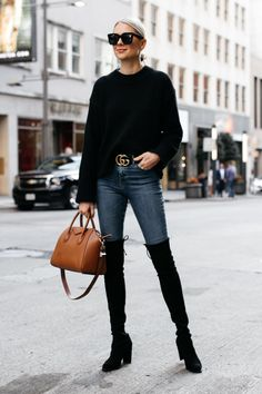 Over the Knee Boots Outfit Inspiration