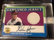 factory authentic c3d4c 9c8c1 2001 Upper Deck Decade '70s Game Used Jersey Nolan Ryan AUTO ...