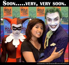 LoL...this wonderful picture!!! Harley loves Joker...but not with her! (Joker by Anthony Misiano)