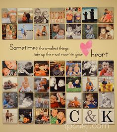 wall decal can be store bought,picture canvas from shutterfly. so easy!