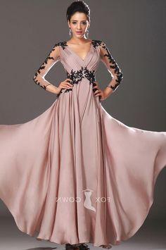 Long Sleeve Evening Dress Pinterest