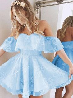 A-Line Homecoming Dress,Lace Prom Dress Short Prom Dresses,Short Pearl Pink Homecoming Dress,Lace Homecoming Dresses,short prom dress Cute Homecoming Dresses, Prom Dresses Blue, Dance Dresses, Sexy Dresses, Summer Dresses, Wedding Dresses, Short Blue Dresses, Beautiful Short Dresses, 8th Grade Prom Dresses