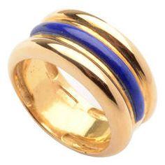 Lapis Lazuli Gold Band Ring