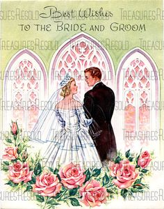 Best Wishes For The Bride And Groom Wedding Card 173 Digital Download
