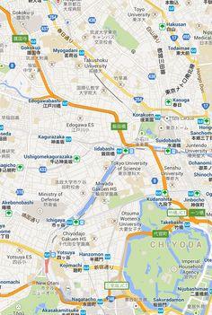KAGURAZAKA TOKYO MAP   GoJapanGo