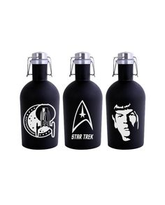 Hey, I found this really awesome Etsy listing at https://www.etsy.com/listing/466512422/star-trek-growler-64oz-black-stainless