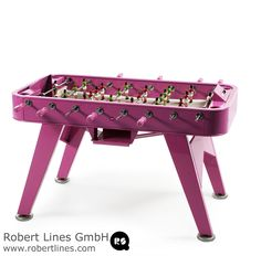 Yes, RS#2 is a football table. A spectacular reinterpretation of one of our cultural classics. It's made in high-quality materials, such as steel with a polyester paint finish. Or like weather resistant stainless steel. And it's the details what make the difference, such as the rubber-soled levellers, or the glass-holders for the four players.