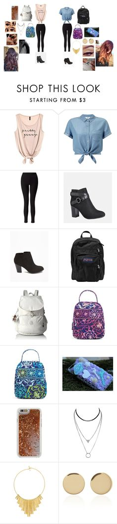 """""""Bff Outfit's"""" by malaysiasmith21 on Polyvore featuring Miss Selfridge, Avenue, Old Navy, JanSport, Kipling, Vera Bradley, Agent 18, BERRICLE and Magdalena Frackowiak"""