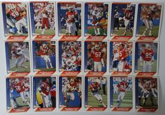 1991 Pacific New England Patriots Team Set of 18 Football Cards #NewEnglandPatriots