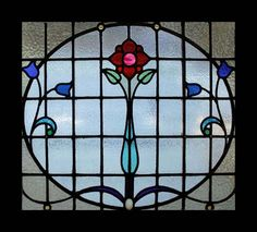 the very best art nouveau rose beauty antique scottish stained glass window is part of Stained glass - The Very Best Art Nouveau Rose Beauty Antique Scottish Stained Glass Window artNouveau Rose