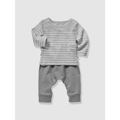 Organic Collection Newborn Cotton Fleece Outfit VERTBAUDET