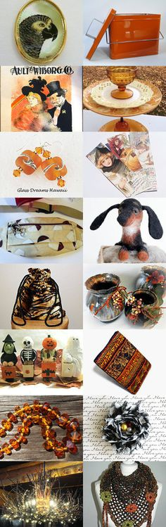 Fun Finds in Autumn Colors by Marcia on Etsy--Pinned+with+TreasuryPin.com