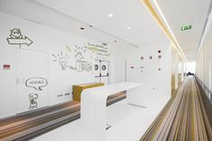 Pedra Silva Arquitectos designed the offices for software developer, Fraunhofer, located in Porto, Portugal. The Fraunhofer Portugal association is a part Office Lounge, Office Walls, Corporate Interiors, Office Interiors, Interior Office, Art Interiors, Office Decor, Maputo, Portugal