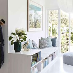 Want to recreate the Byron beach house vibe? Check out our story in the August issue on Bay Cottage, which has been… Country Style Magazine, Interior Architecture, Interior Design, Built In Furniture, Living Spaces, Living Room, Hamptons House, Home Fashion, Apartment Living